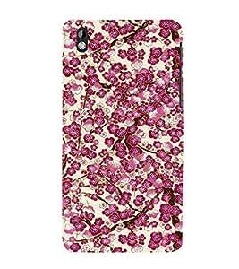 Floral Art 3D Hard Polycarbonate Designer Back Case Cover for HTC Desire 816::HTC Desire 816 G::HTC Desire 816D::HTC Desire 816G (Octa Core)