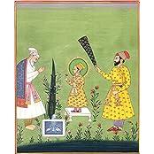 Exotic India Raja Jai Singh Pays Homage To Child Saint Guru Harkishan - Water Color Painting On Pape