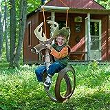 Big Buck Tire Swing Recycled Tire Swing - Deer, Black