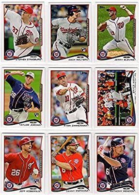 Washington Nationals 2014 Topps MLB Baseball Regular Issue Complete Mint 22 Card Team Set with Bryce Harper, Stephen Strasburg Plus