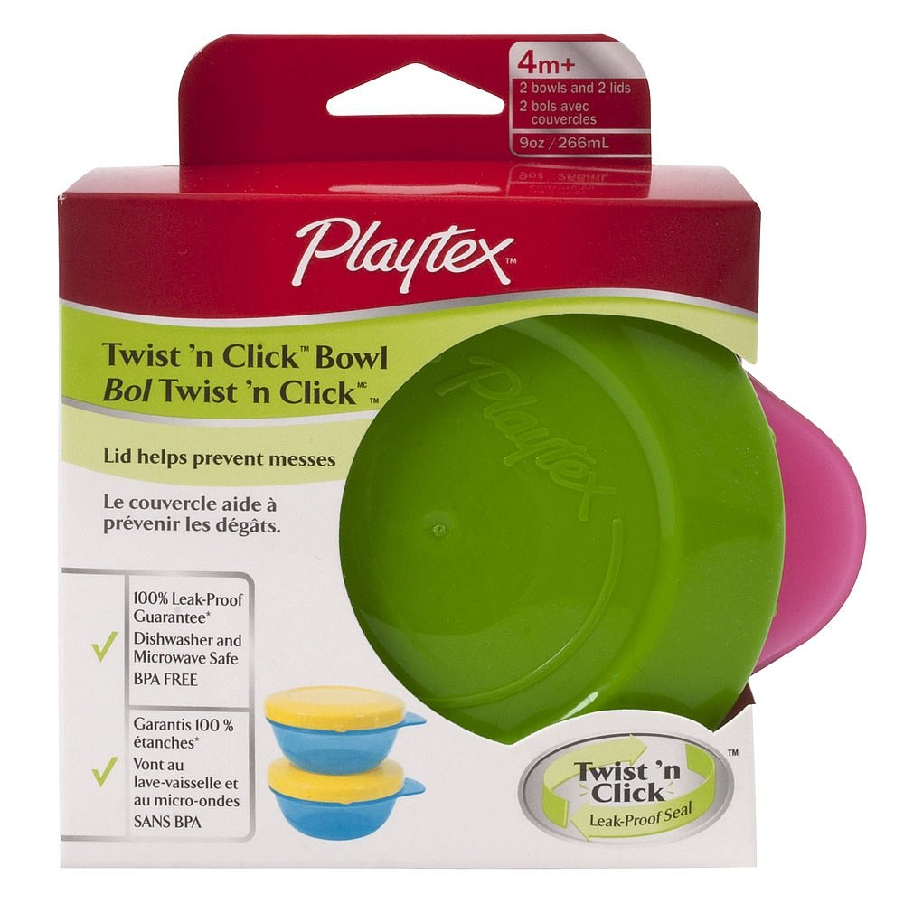 Playtex Snack Bowls with Twist N Click 12/2PK