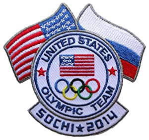 US Olympic Team Flag Russia Sochi Winter 2014 Olympics Collectible [3.5 Inches] Patch