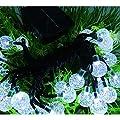 Cideros Solar Fairy Lights LEDs String Lights Globe Flashing Lights for Christmas Party, Festival, Garden Path, Home, Wedding, Bedroom, Yard Decoration