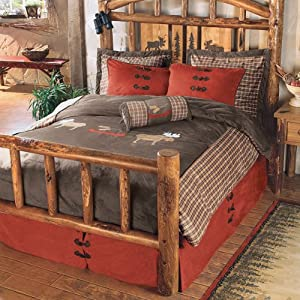 Moose Plaid Bed Set - King