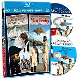 Count of Monte Cristo / Man Friday DF (Blu-ray / DVD Combo)