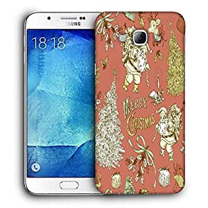 Snoogg Merry Christmas Red Printed Protective Phone Back Case Cover For Samsung Galaxy Note 5