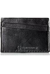 AlpineSwiss Leather Card Case Wallet Slim Super Thin 5 Card Slots Front Pocket
