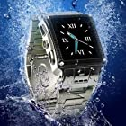 2GB Waterproof Stainless Steel Watch MP3 MP4 Mobile Cell Phone Quad band Camera