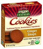 Mary's Gone Crackers love Cookies, Ginger Snaps, 5.5-Ounce Boxes (Pack of 6)