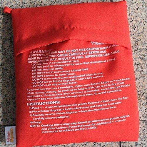 CountyLinen Reusable Microwave Baked Potato Bag, Express Microwave Potato Cooker, Set of 2 (Microwave Potato Sack compare prices)