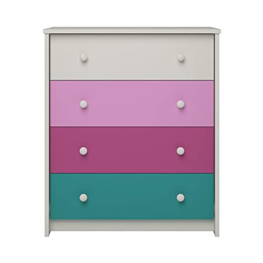 Altra Kaleidoscope Girls 4-drawer Contemporary Bedroom Chest