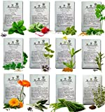 HERBS SEEDS AMERICAN GROWN Variety DOUBLE SIZE Packets Fresh Germinate-Ready Complete Heirloom Seed Herb Kit For Planting Your Own Perennial Organic Herb Garden - Indoor Potted or Open Herb Garden Beds. NON GMO - Plant Markers Included