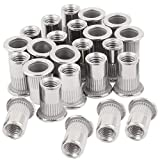 30pcs M8 Rivet Nuts Stainless Steel Threaded Insert Nutsert Rivnuts M8 (Color: Stainless Steel, Tamaño: M8)