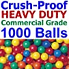 "1000 pcs Commercial Grade Crush-Proof Plastic Ball Pit Balls in 5 Colors – 3.1"" Air-Filled 100%…"