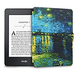 Walnew the Thinnest and the Lightest Colorful Painting Leather Cover Case for Kindle Paperwhite(fits All Versions: 2012, 2013, 2014 and 2015 All-new 300 PPI Versions) Tablet with 6