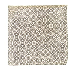 100% Woven Silk Champagne Opulent Geometric Patterned Pocket Square