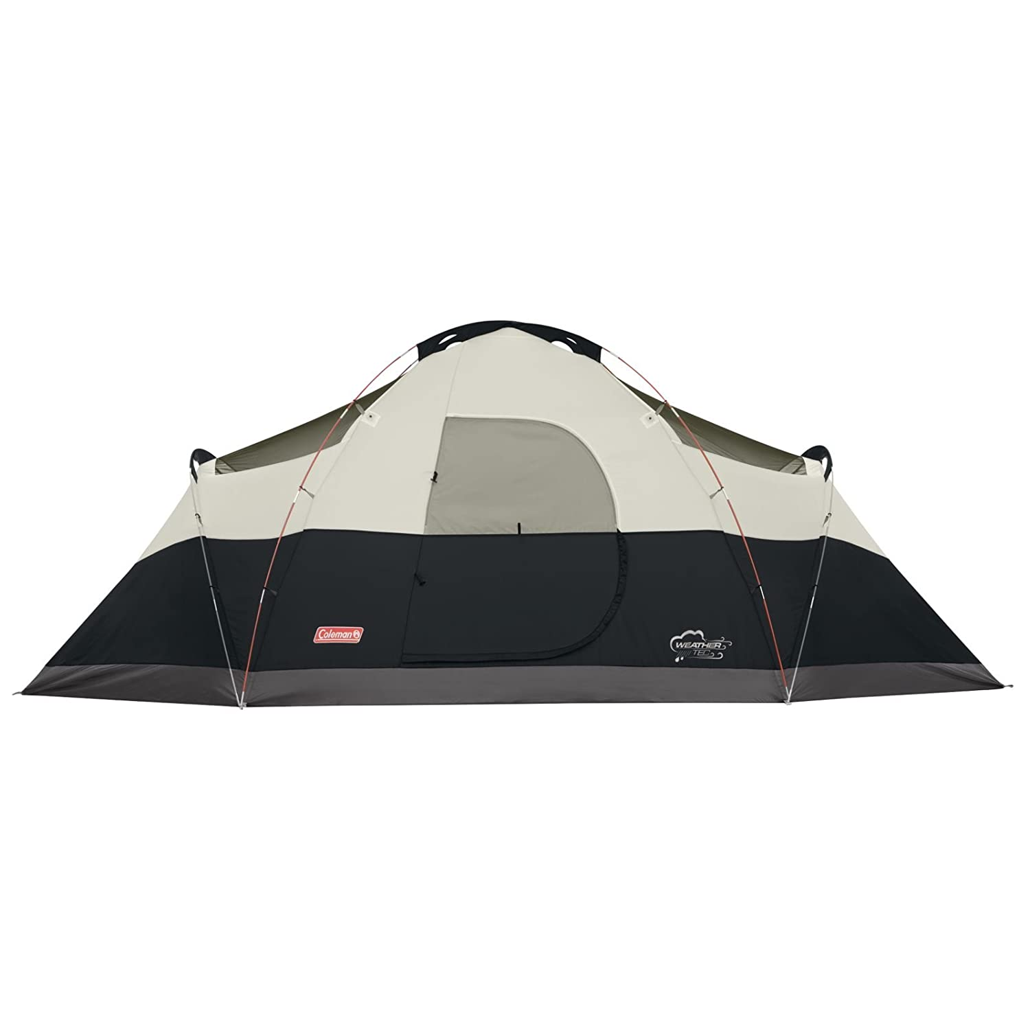 Coleman 8 Person Red Canyon Tent Black Blue Red