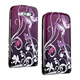 SuperStore_Electronics(TM) Stylish Printing Retro Style Durable Slim-Fit Flip PU Leather Protective Defense Stand Case Cover Compatible For Samsung i9300 Galaxy S3 III (butterfly flower)