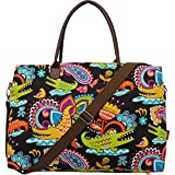 Tropical Crocodile Print X-Large Tote Bag
