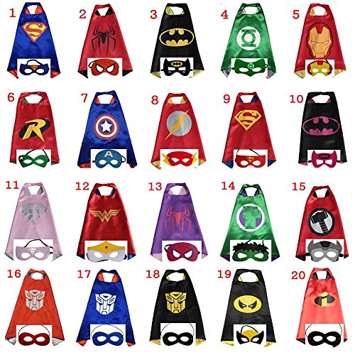 Superhero Capes 10 pc Bundle (5 boys, 5 girls)