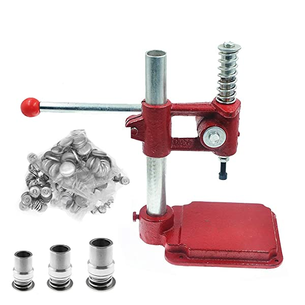 AVA Prime Handmade Fabric Cover Button Maker-Making Machine with 3 Molds(F18/25/30mm) and 300 Pcs Buttons (Machine Set) (Tamaño: Machine Set)