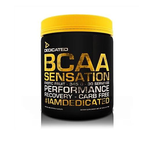 Dedicated BCAA Sensation V2.0 Aminosäure, 345g Pulver, Geschmack:Exotic Fruit