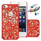 Romantic Red Roses Carved Palace Fashion Design Hard Case Cover Skin Protector for Iphone 5 At&t Sprint Verizon Retail Packing(Pc) Fs-0033