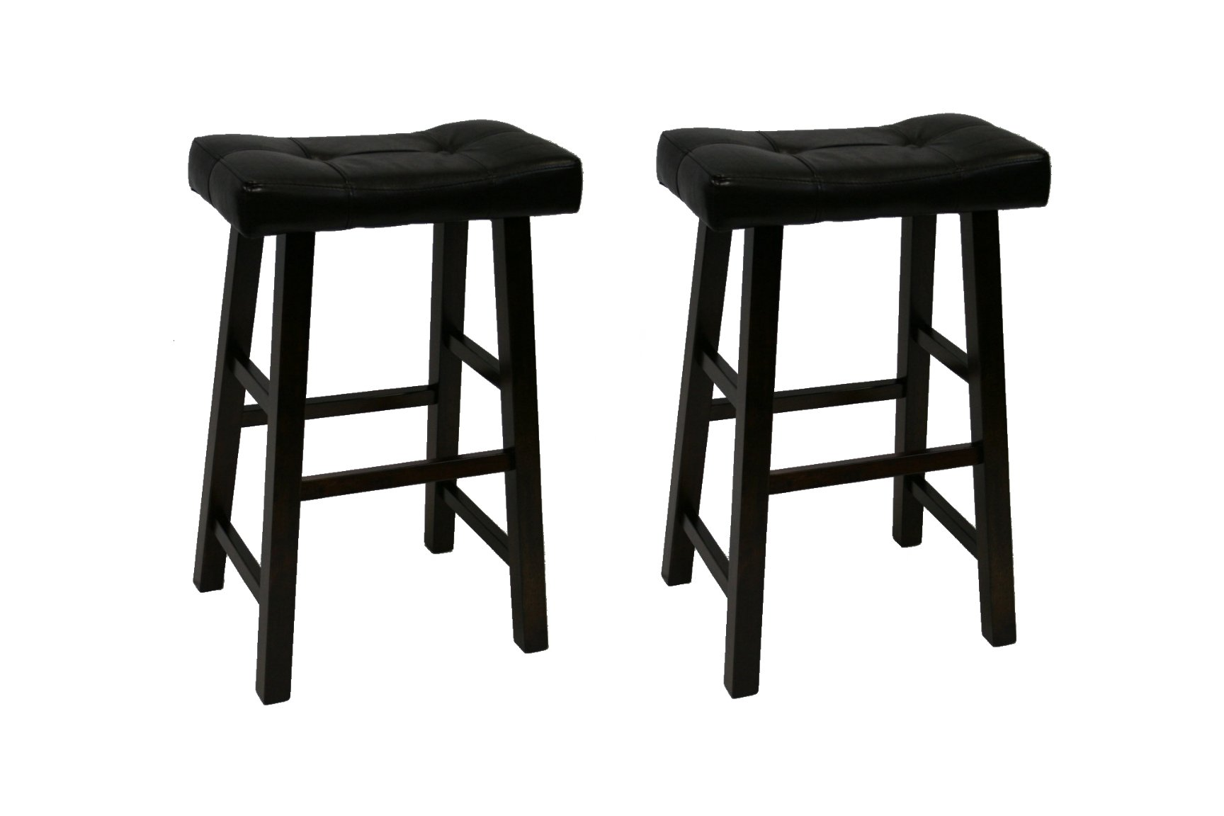 Heavy Duty Padded Faux Leather Saddle Seat Stools 29