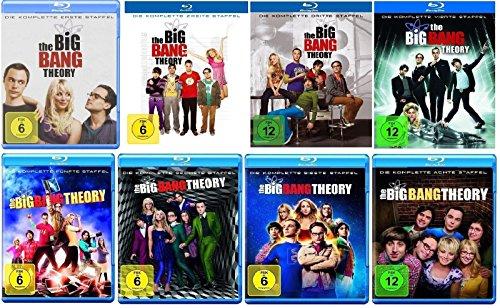 Cover Blu-ray Set * The Big Bang Theory Staffel/Season 1+2+3+4+5+6+7+8