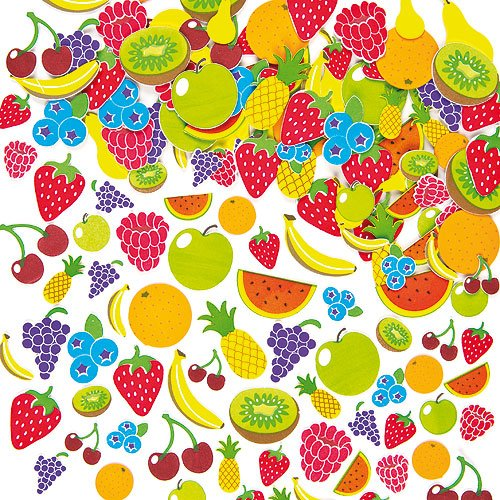 Fruit Foam Stickers Self-Adhesive Shapes Kid's Craft Embellishments for Decorating & Card Making Scrapbooking(Pack of 120) (Fruit Foam compare prices)