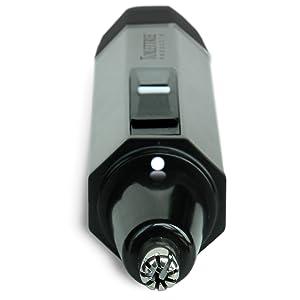 Recortadora de pelo de nariz resistente al agua, de acero con luz LED.
