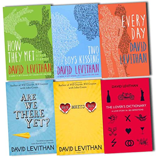 David Levithan Collection 6 Books Pack Set (The Lover's Dictionary: A Love Story in 185 Definitions, Boy Meets Boy, Are We There Yet?, Two
