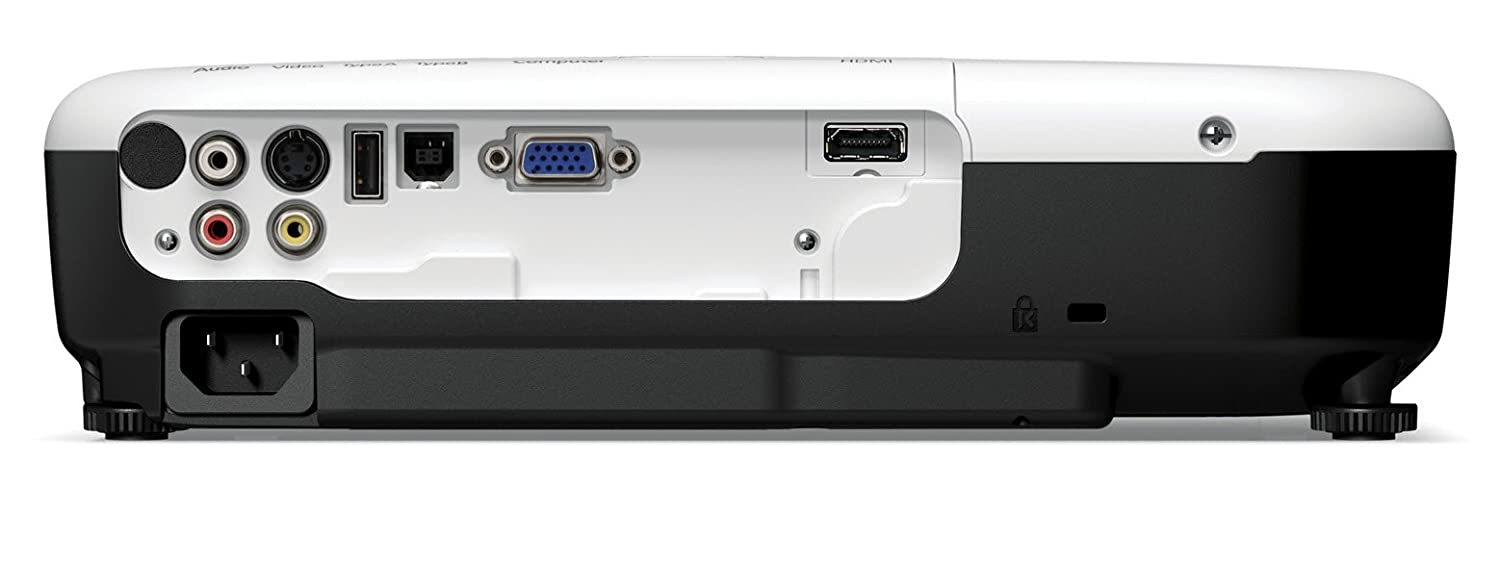 Epson VS220 SVGA 3LCD Projector - 2700 lumens color brightness, 2700 Lumens White Brightness, 800x600, 4-3, 3000-1, HDMI, VGA, USB Plug'nPlay PC/Mac, 5.1 lbs.