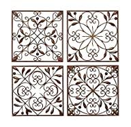 Deco 79 Metal Wall Decor (Set of 4),…