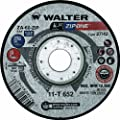 "Walter Surface Technologies 11T652 Walter ZIP One High Performance Cut-off Wheel, Round Hole, Aluminum Oxide, 5"" Diameter, 1/32"" Thick, 7/8"" Arbor, Type 27, Grit ZA-60-ZIP (Pack of 25)"