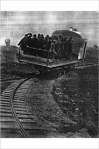 Photographic Print Of Train That Runs On A Single Curve, The Gyroscopic Car