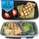 [20 Pack] 2 Compartment Meal Prep Con...