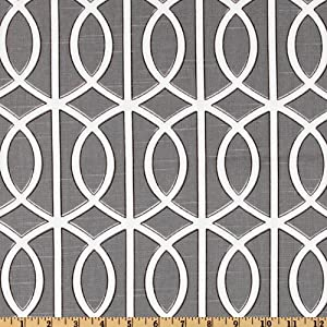 54'' Wide Dwell Studio Bella Porte Charcoal Fabric By The Yard