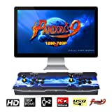 TAPDRA Pandora's Box 9 Multiplayer Joystick and Buttons Arcade Console, Cabinet Games Machines for Home, 1500 Retro Classic Video Games, Newest System with Advanced CPU, Compatible with HDMI (Grey) (Color: B, Tamaño: Pandora's box 9)