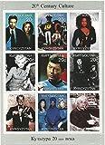 アインシュタイン、スタートレック、Xファイル、JANTジャクソンとマリリン?モンロー/キルギス/ 1999を搭載コレクターのための20世紀の文化スタンプシート