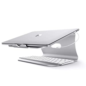 Bestand Laptop Stand, Aluminum Cooling Computer Stand & Holder for MacBook Air/Pro, Notebooks, Grey (Patented) (Color: 102s Silver-new Modle)