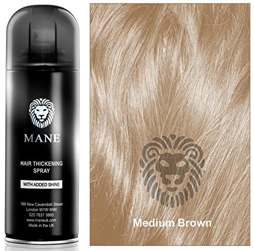Medium-Brown-Hair-Thickening-Spray-with-added-shine-by-Mane-UK-for-Hair-Loss-and-thinning-Hair-and-to-cover-roots