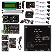 SainSmart Ramps 1.4 + A4988 + Mega2560 R3 + Endstop + MK2B + Cooler Fan Kit for RepRap 3D Printer Arduino Mega2560 UNO R3