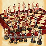 SAC Battle of Waterloo Hand Decorated Chess Set A169S