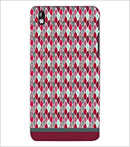 PrintDhaba Pattern D-1718 Back Case Cover for HTC DESIRE 816 (Multi-Coloured)
