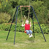 Headstrom Single Garden Swing Childrens Single Blue and Orange Outdoor Swing