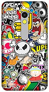 The Racoon Grip printed designer hard back mobile phone case cover for Motorola Moto X Play. (Sticker Bo)