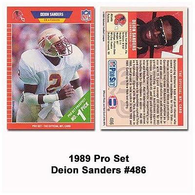 Pro Set Atlanta Falcons Deion Sanders 1989 Rookie Card