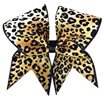 Big Cheetah Cheer Bow