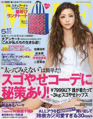 【雑誌】MORE(モア)2010年5月号に嵐の松本潤さんと佐藤浩市氏の対談記事掲載